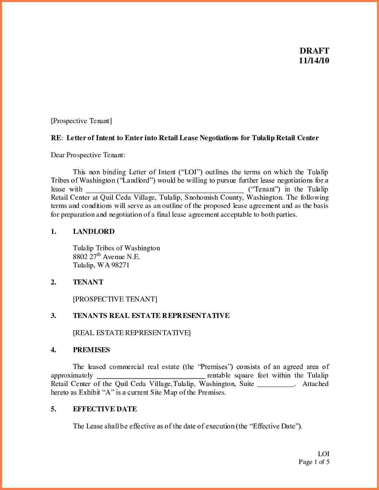 cover letter lease application business