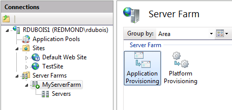 is the iis manager application listed