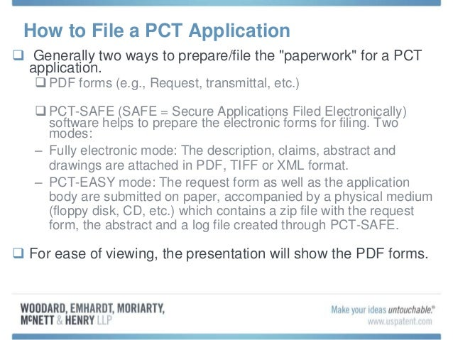 file a pct application patent granting
